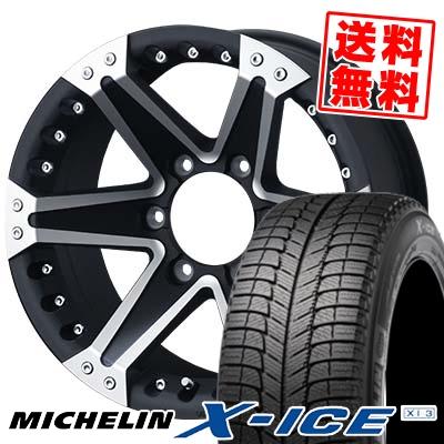 235/60R16 MICHELIN ミシュラン X-ICE XI3 エックスアイス XI-3 MUD VANCE01 マッドヴァンス01 スタッドレスタイヤホイール4本セット