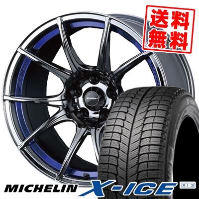 225/40R18 MICHELIN ミシュラン X-ICE XI3 エックスアイス XI-3 wedsSport SA-10R ウエッズスポーツ SA10R スタッドレスタイヤホイール4本セット【取付対象】