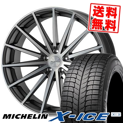 245/50R18 MICHELIN ミシュラン X-ICE XI3 エックスアイス XI-3 ROJAM Spread ロジャム スプレッド スタッドレスタイヤホイール4本セット
