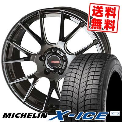 225/50R18 MICHELIN ミシュラン X-ICE XI3 エックスアイス XI-3 CIRCLAR RM-7 サーキュラー RM-7 スタッドレスタイヤホイール4本セット