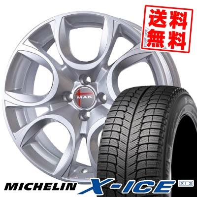 175/65R14 86T MICHELIN ミシュラン X-ICE XI3 エックスアイス XI3 MAK TORINO MAK トリノ スタッドレスタイヤホイール4本セット【 for FIAT 】
