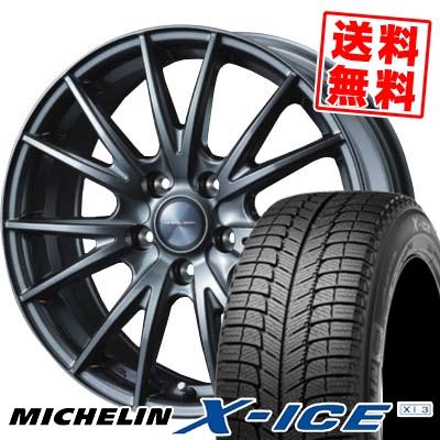 【送料無料】 MICHELIN ミシュラン エックスアイス XI-3 215/45R18 18インチ スタッドレスタイヤ ホイール4本セット ヴェルヴァ スポルト X-ICE XI3 エックスアイス XI-3