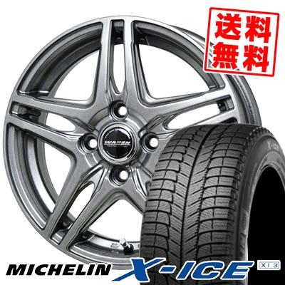 155/65R13 73T MICHELIN ミシュラン X-ICE XI3 エックスアイス XI-3 WAREN W04 ヴァーレン W04 スタッドレスタイヤホイール4本セット