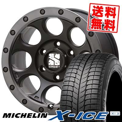 235/60R16 MICHELIN ミシュラン X-ICE XI3 エックスアイス XI-3 XTREME-J XJ03 エクストリームJ XJ-03 スタッドレスタイヤホイール4本セット