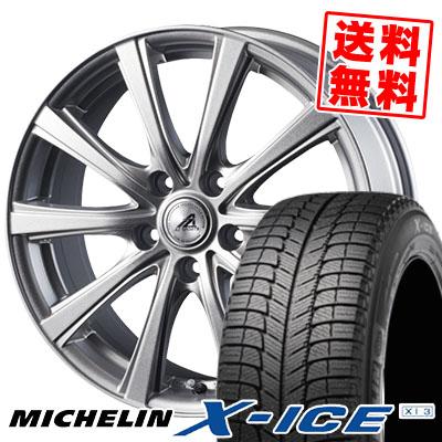 195/60R15 MICHELIN ミシュラン X-ICE XI3 エックスアイス XI-3 AZ sports YL-10 AZスポーツ YL-10 スタッドレスタイヤホイール4本セット