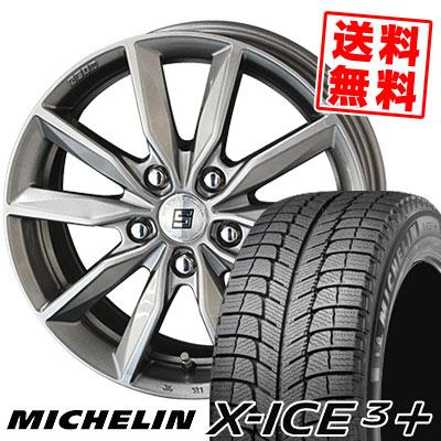 235/45R18 98H XL MICHELIN ミシュラン X-ICE3+ XI3PLUS エックスアイス3プラス SEIN SV ザイン エスブイ スタッドレスタイヤホイール4本セット