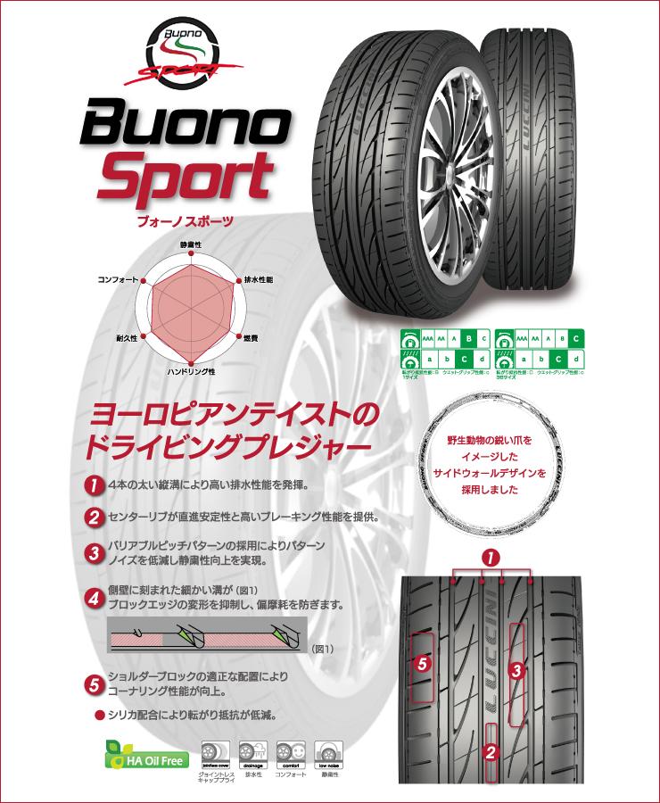 205/45R16LUCCINIルッチーニBuonoSportヴォーノスポーツBBSRPBBSRPサマータイヤホイール4本セット