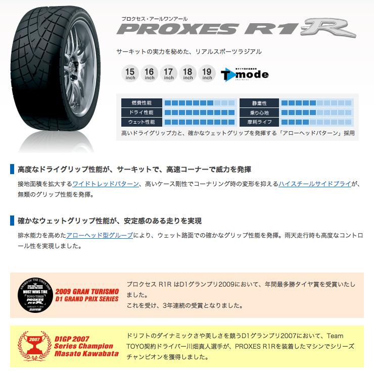 245/40R17サマータイヤ単品1本トーヨー(TOYO)PROXESR1R夏タイヤ単品1本価格《2本以上ご購入で送料無料》
