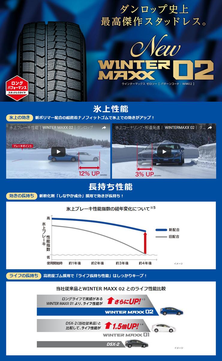 205/50R1789QDUNLOPダンロップWINTERMAXX02WM02ウインターマックス02冬スタッドレスタイヤ4本+取付《送料無料》