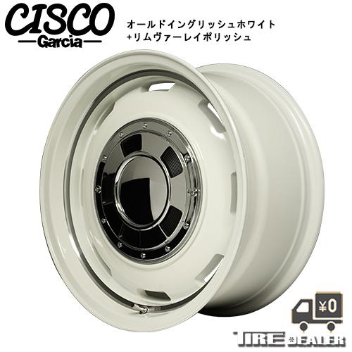 Garcia CISCO ガルシア シスコ14インチ 4.5J P.C.D:100 4穴 インセット:45オールドイングリッシュホワイト+リムヴァーレイポリッシュ ホイール4本セット 軽CAR 等に メーカー直送品(代引き・営業所止めは対応しておりません)