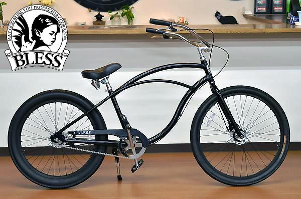 【BLESSブレス自転車】BLESS MAHILOW 1sマットブラック ブレス ビーチクルーザー