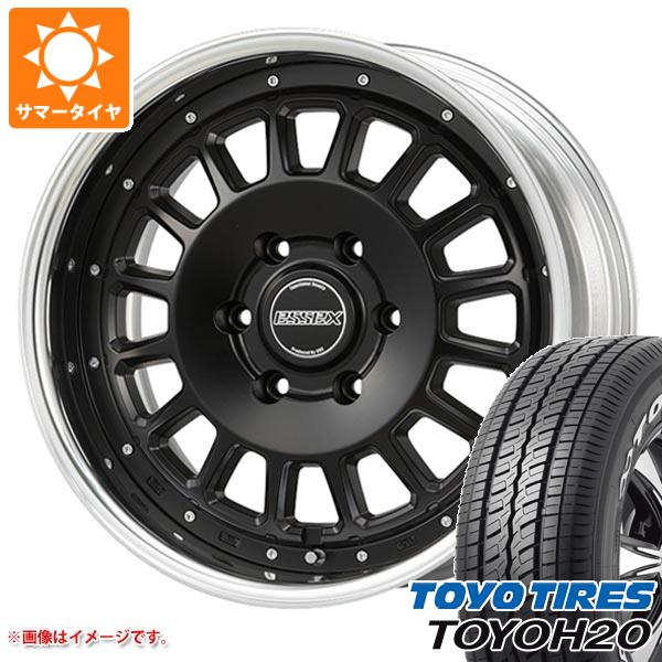 ハイエース 200系専用 サマータイヤ トーヨー H20 225/50R18C 107/105R ブラックレター エセックス ENCD 2P 7.0-18 タイヤホイール4本セット