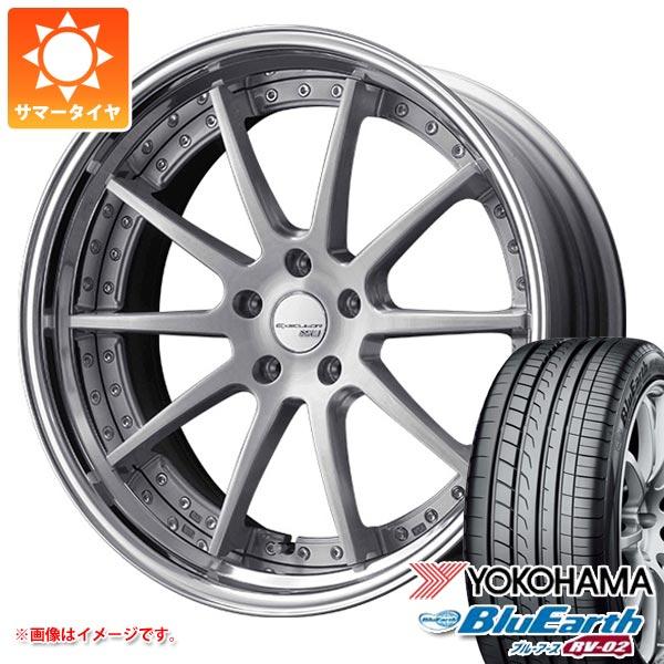 サマータイヤ 245/35R20 95W XL ヨコハマ ブルーアース RV-02 & SSR エグゼキューター CV01S 8.0-20 タイヤホイール4本セット
