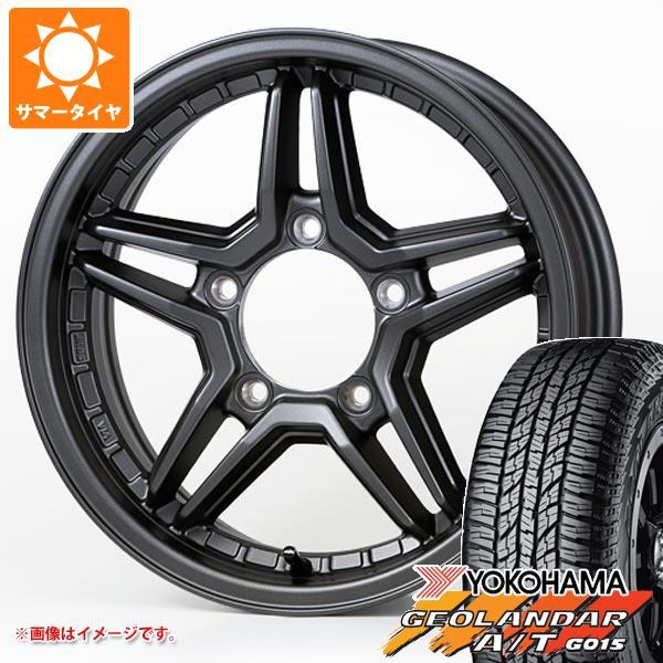 ジムニー専用 サマータイヤ ヨコハマ ジオランダー A/T G015 175/80R16 91S ブラックレター エクセル JX3 5.5-16 タイヤホイール4本セット