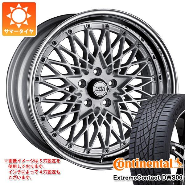サマータイヤ 235/60R18 107W XL コンチネンタル エクストリームコンタクト DWS06 SSR フォーミュラ メッシュ 8.0-18 タイヤホイール4本セット