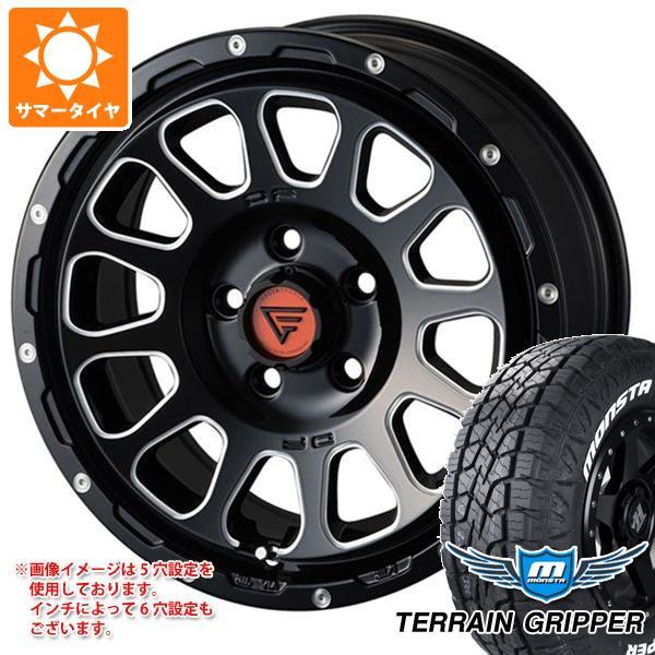 サマータイヤ 265/65R17 116T XL モンスタ テレーングリッパー ホワイトレター デルタフォース オーバル 8.0-17 タイヤホイール4本セット