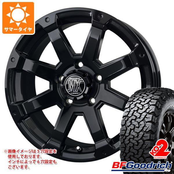 サマータイヤ 265/60R18 119/116S BFグッドリッチ オールテレーン T/A KO2 ブラックレター バドックス ロックケリー MX-1 8.0-18 タイヤホイール4本セット