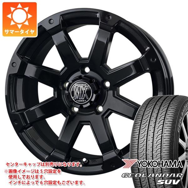 サマータイヤ 215/70R16 100H ヨコハマ ジオランダーSUV G055 バドックス ロックケリー MX-1 7.0-16 タイヤホイール4本セット