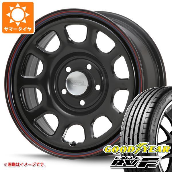 サマータイヤ 215/65R16 98H グッドイヤー イーグル RV-F デイトナ SS ブラック 新型デリカD5対応 7.0-16 タイヤホイール4本セット