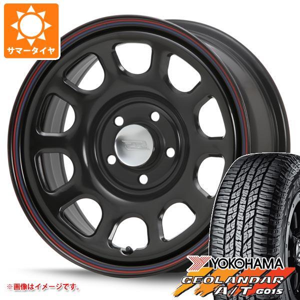 サマータイヤ 215/65R16 98H ヨコハマ ジオランダー A/T G015 ブラックレター MLJ デイトナ SS 新型デリカD5対応 7.0-16 タイヤホイール4本セット