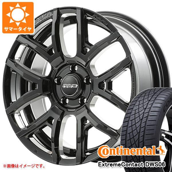 サマータイヤ 235/50R18 97W コンチネンタル エクストリームコンタクト DWS06 レイズ デイトナ F6 ドライブ 7.5-18 タイヤホイール4本セット