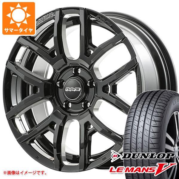 サマータイヤ 215/45R18 93W XL ダンロップ ルマン5 LM5 レイズ デイトナ F6 ドライブ 7.5-18 タイヤホイール4本セット