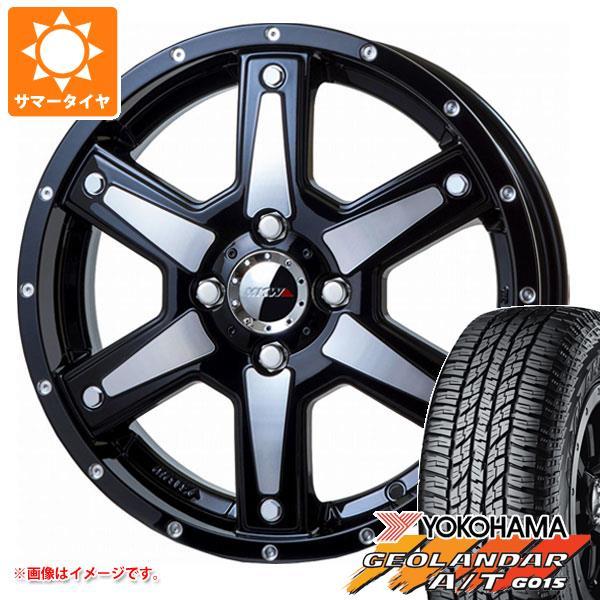 サマータイヤ 165/60R15 77H ヨコハマ ジオランダー A/T G015 ブラックレター MK-56 MMB 軽カー専用 4.5-15 タイヤホイール4本セット