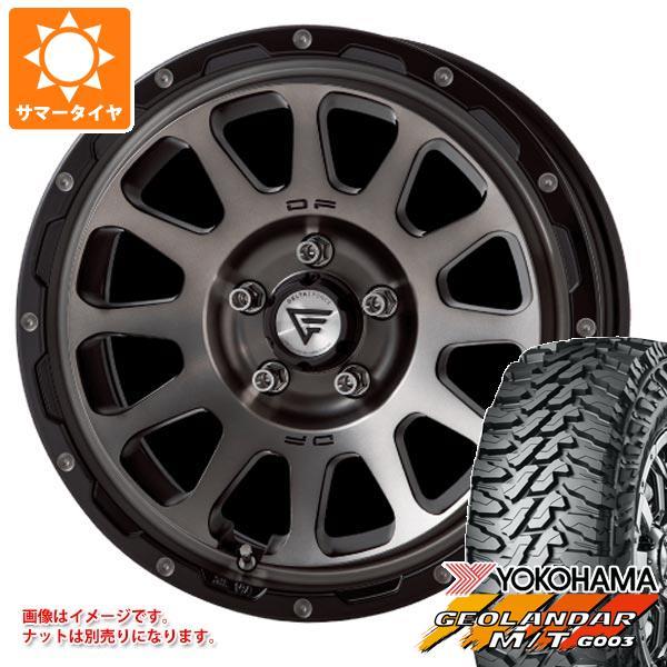 サマータイヤ 225/65R17 107/103Q ヨコハマ ジオランダー M/T G003 ブラックレター デルタフォース オーバル 7.0-17 タイヤホイール4本セット
