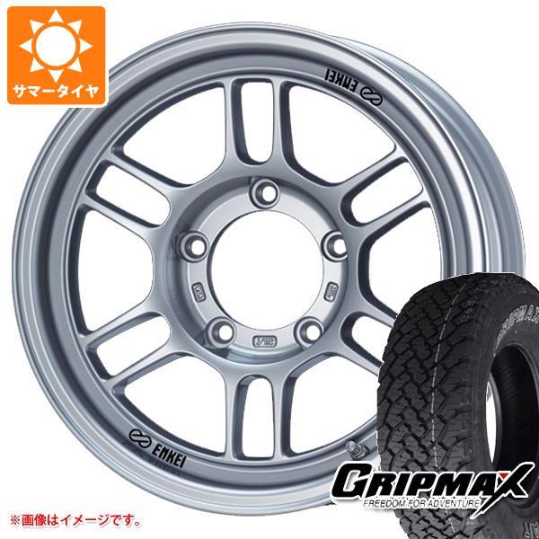 ジムニー専用 サマータイヤ グリップマックス グリップマックス A/T 215/70R16 100T アウトラインホワイトレター ENKEI エンケイ オールロード RPT1 5.5-16 タイヤホイール4本セット