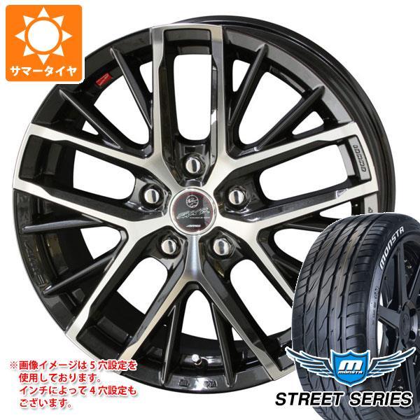 サマータイヤ 225/45R17 94V XL モンスタ ストリートシリーズ ホワイトレター スマック レヴィラ 7.0-17 タイヤホイール4本セット