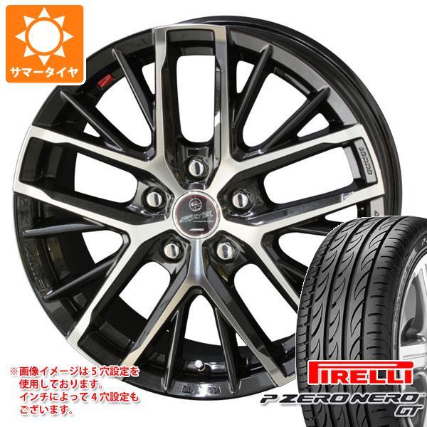 サマータイヤ 225/55R17 101W XL ピレリ P ゼロ ネロ GT スマック レヴィラ 7.0-17 タイヤホイール4本セット