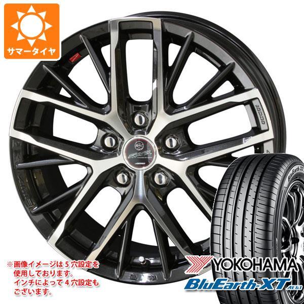 サマータイヤ 215/60R16 95V ヨコハマ ブルーアースXT AE61 スマック レヴィラ 6.5-16 タイヤホイール4本セット