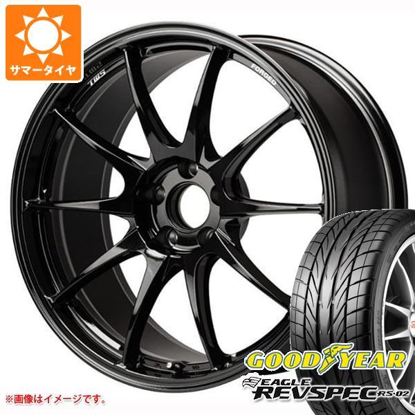 サマータイヤ 215/45R18 89W グッドイヤー イーグル レヴスペック RS-02 TWS モータースポーツ RS317 8.0-18 タイヤホイール4本セット