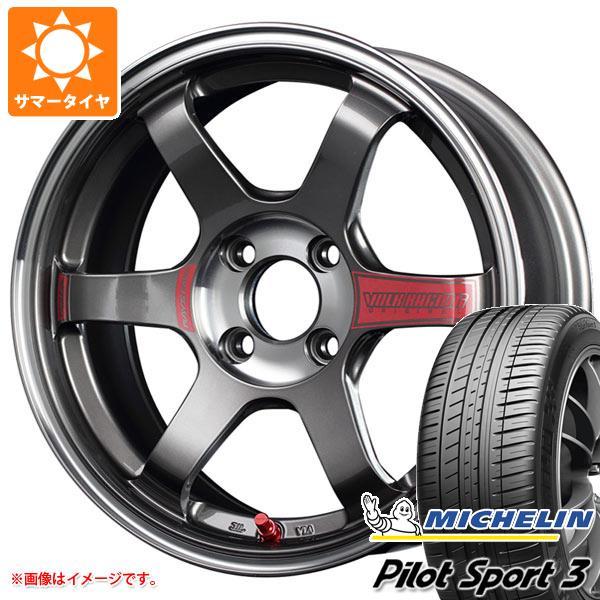 サマータイヤ 185/55R15 82V ミシュラン パイロットスポーツ3 レイズ ボルクレーシング TE37SL ソニック 6.0-15 タイヤホイール4本セット