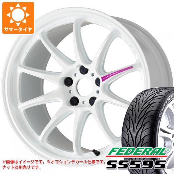 サマータイヤ 265/30R19 89W フェデラル SS595 ワーク エモーション ZR10 9.5-19 タイヤホイール4本セット