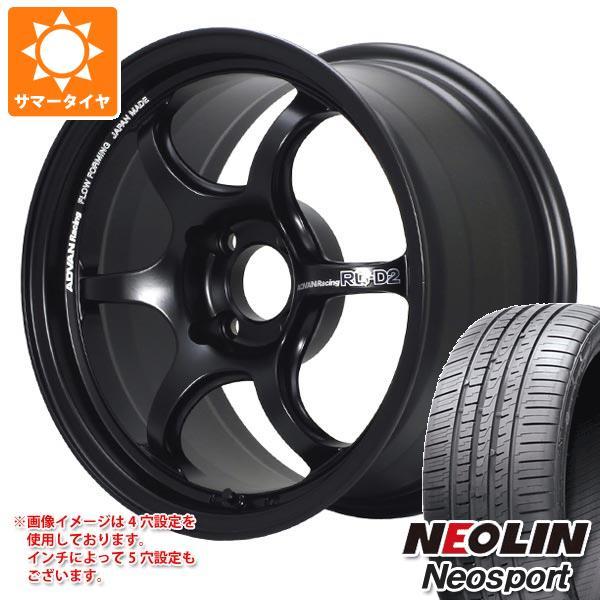 サマータイヤ 225/40R18 92W XL ネオリン ネオスポーツ アドバンレーシング RG-D2 8.0-18 タイヤホイール4本セット