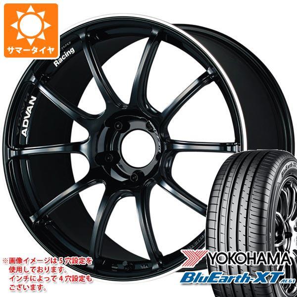 サマータイヤ 235/55R18 100V ヨコハマ ブルーアースXT AE61 アドバンレーシング RZ2 8.0-18 タイヤホイール4本セット