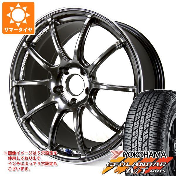 サマータイヤ 235/55R18 104H XL ヨコハマ ジオランダー A/T G015 ブラックレター アドバンレーシング RZ2 8.0-18 タイヤホイール4本セット