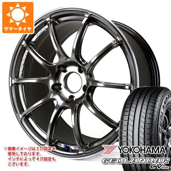サマータイヤ 235/55R18 100V ヨコハマ ジオランダー CV アドバンレーシング RZ2 8.0-18 タイヤホイール4本セット
