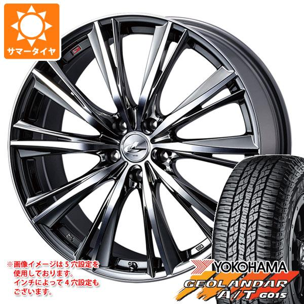 サマータイヤ 235/55R18 104H XL ヨコハマ ジオランダー A/T G015 ブラックレター レオニス WX BMCミラーカット 8.0-18 タイヤホイール4本セット