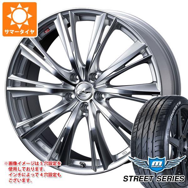 サマータイヤ 215/40R17 88V XL モンスタ ストリートシリーズ ホワイトレター レオニス WX HSミラーカット 7.0-17 タイヤホイール4本セット