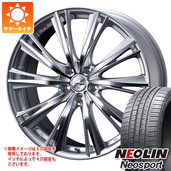 サマータイヤ 225/40R18 92W XL ネオリン ネオスポーツ レオニス WX HSミラーカット 7.0-18 タイヤホイール4本セット