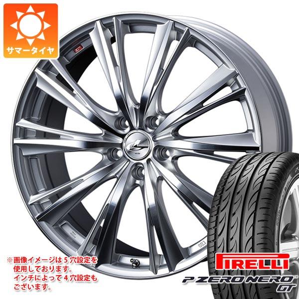 サマータイヤ 195/45R16 84V XL ピレリ P ゼロ ネロ GT レオニス WX HSミラーカット 6.0-16 タイヤホイール4本セット