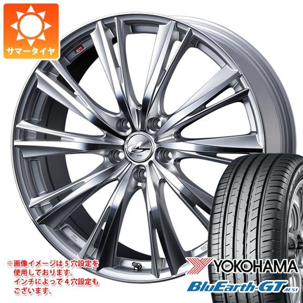 サマータイヤ 175/65R14 82H ヨコハマ ブルーアースGT AE51 レオニス WX 5.5-14 タイヤホイール4本セット
