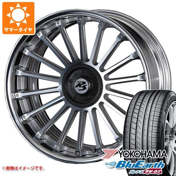 サマータイヤ 245/35R20 95W XL ヨコハマ ブルーアース RV-02 クリムソン RS CV フィン 8.5-20 タイヤホイール4本セット
