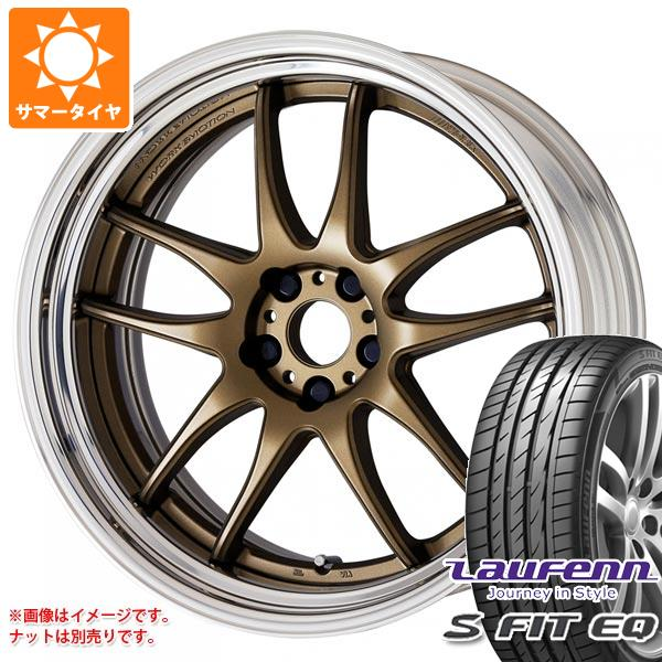 サマータイヤ 245/40R18 97Y XL ラウフェン Sフィット EQ LK01 ワーク エモーション CR 2P 8.5-18 タイヤホイール4本セット