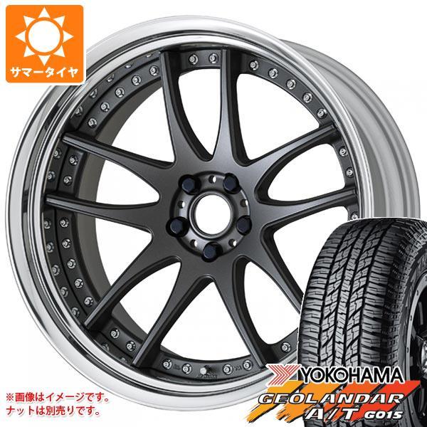 サマータイヤ 235/55R18 104H XL ヨコハマ ジオランダー A/T G015 ブラックレター ワーク エモーション CR 3P 8.0-18 タイヤホイール4本セット