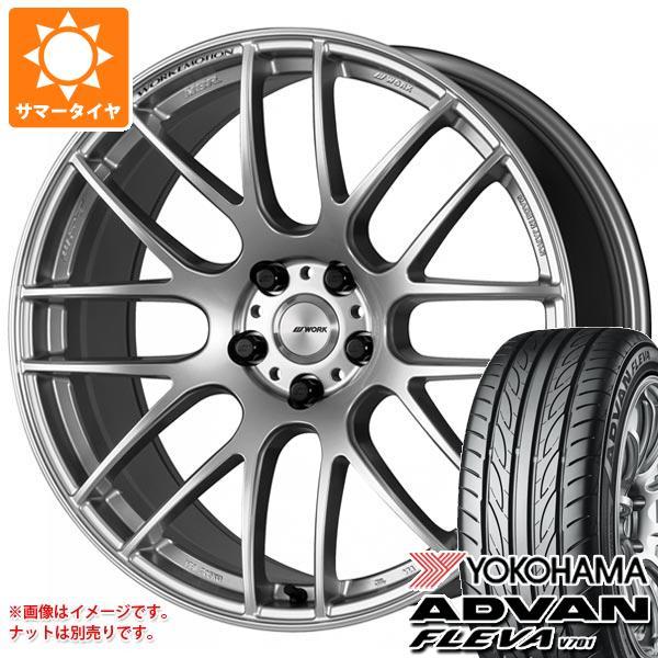 サマータイヤ 245/40R20 99W XL ヨコハマ アドバン フレバ V701 エモーション M8R 8.5-20 タイヤホイール4本セット