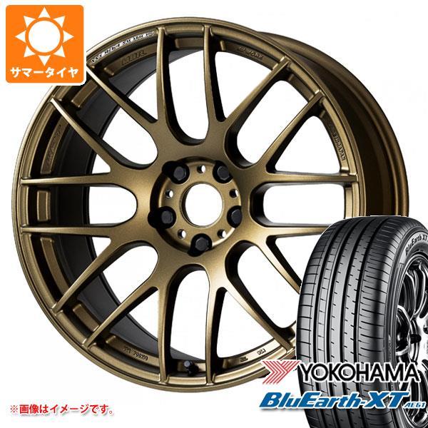 サマータイヤ 235/55R18 100V ヨコハマ ブルーアースXT AE61 エモーション M8R 7.5-18 タイヤホイール4本セット