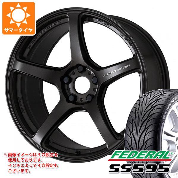 サマータイヤ 215/40R17 83V フェデラル SS595 エモーション T5R 7.0-17 タイヤホイール4本セット